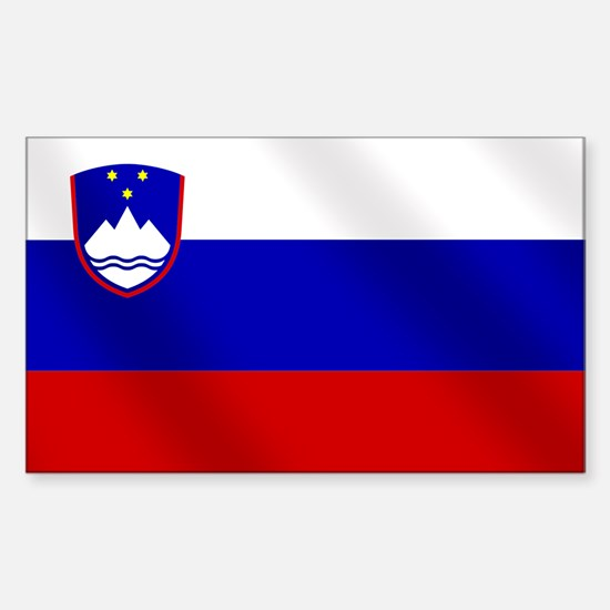 Flag of Slovenia Sticker (Rectangle)