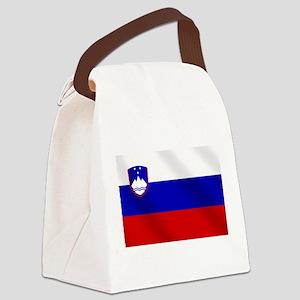 Flag of Slovenia Canvas Lunch Bag