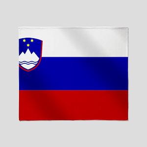 Flag of Slovenia Throw Blanket