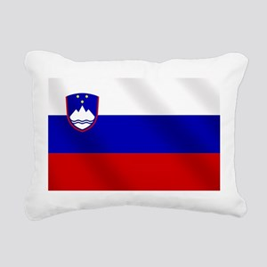 Flag of Slovenia Rectangular Canvas Pillow