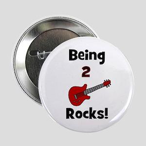 Being 2 Rocks! Guitar Button