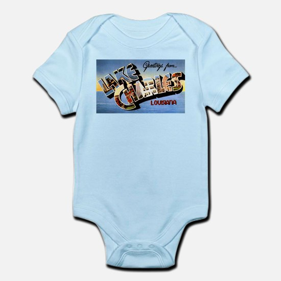 Lake Charles Louisiana Greetings Infant Bodysuit