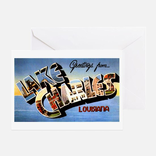 Lake Charles Louisiana Greetings Greeting Card