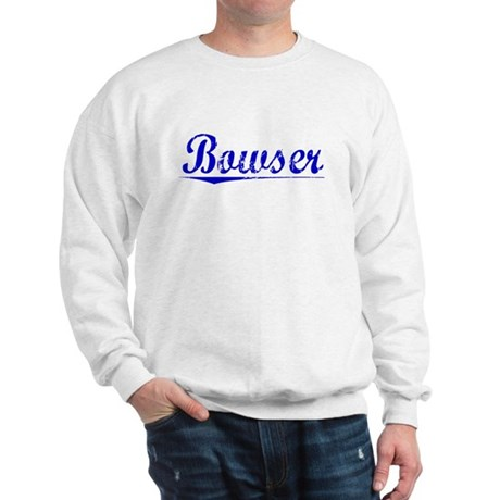 Bowser, Blue, Aged Sweatshirt