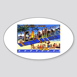 Melbourne Florida Greetings Sticker (Oval)