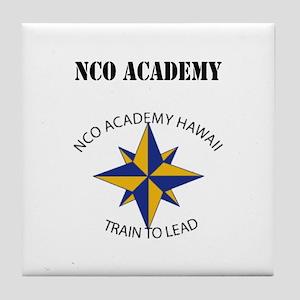 NCO Academy with Text Tile Coaster