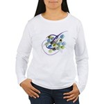 Atom Flowers #31 Women's Long Sleeve T-Shirt