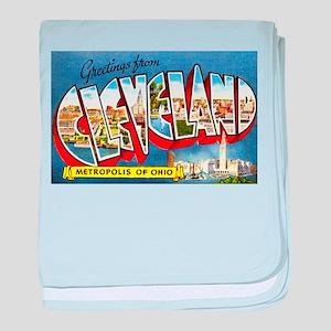 Cleveland Ohio Greetings baby blanket