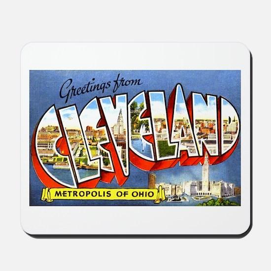 Cleveland Ohio Greetings Mousepad
