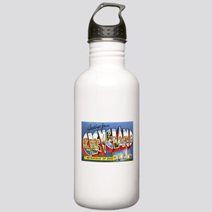 Cleveland Ohio Greetings Stainless Water Bottle 1.