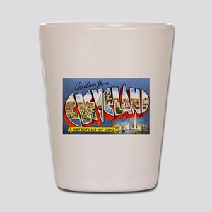 Cleveland Ohio Greetings Shot Glass