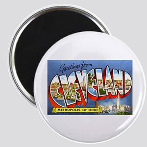 Cleveland Ohio Greetings Magnet