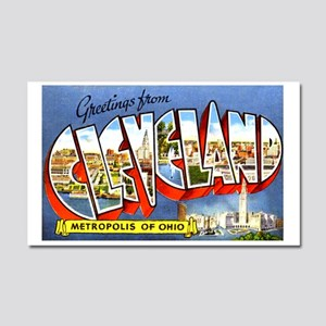 Cleveland Ohio Greetings Car Magnet 20 x 12