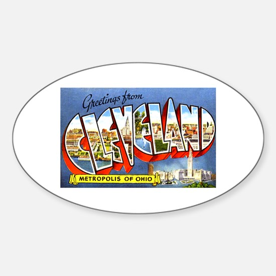 Cleveland Ohio Greetings Sticker (Oval)
