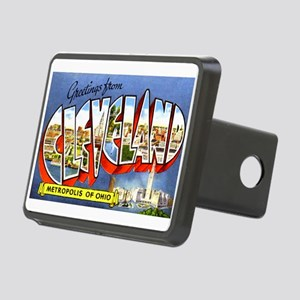 Cleveland Ohio Greetings Rectangular Hitch Cover