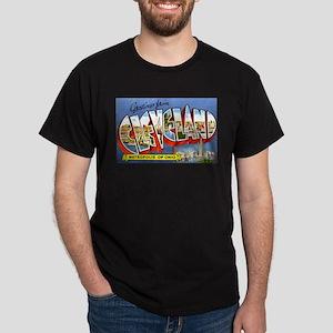 Cleveland Ohio Greetings Dark T-Shirt