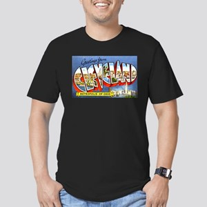 Cleveland Ohio Greetings Men's Fitted T-Shirt (dar