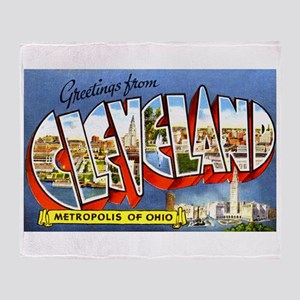 Cleveland Ohio Greetings Throw Blanket