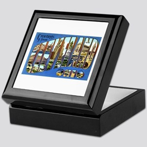 Cleveland Ohio Greetings Keepsake Box