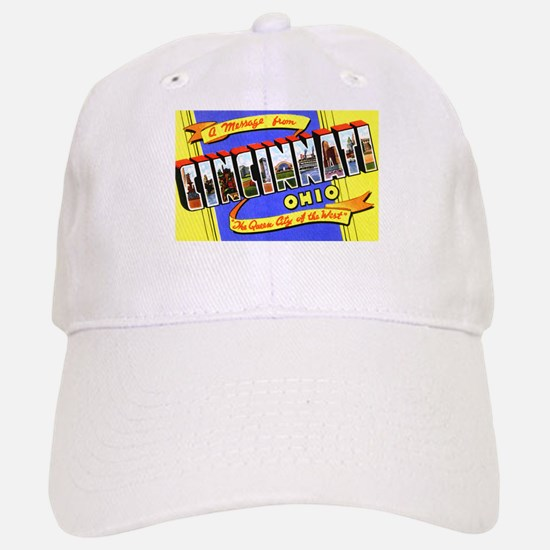 Cincinnati Ohio Greetings Baseball Baseball Cap