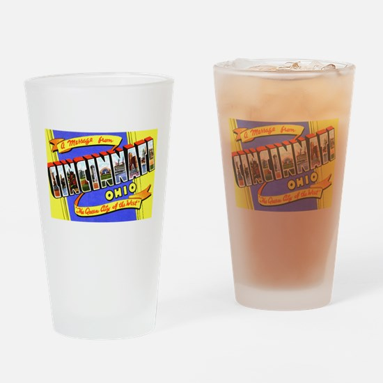 Cincinnati Ohio Greetings Drinking Glass
