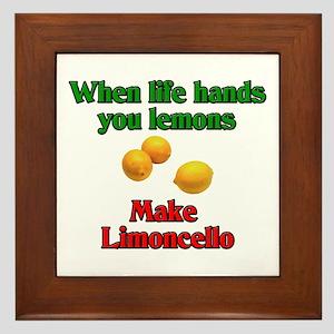 When Life Hands You Lemons Framed Tile