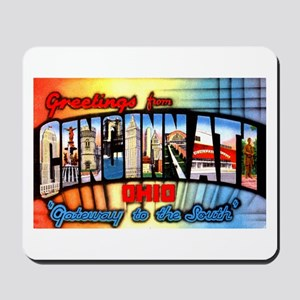 Cincinnati Ohio Greetings Mousepad