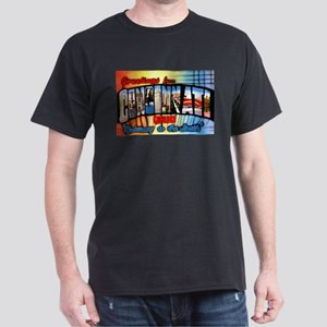Cincinnati Ohio Greetings Dark T-Shirt
