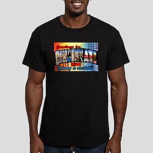 Cincinnati Ohio Greetings Men's Fitted T-Shirt (da