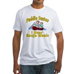 Paddle Faster I hear Banjos Fitted T-Shirt