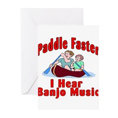Paddle Faster Greeting Cards (Pk of 10)