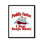 Paddle Faster Framed Panel Print