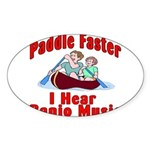Paddle Faster Sticker (Oval 10 pk)