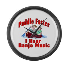 Paddle Faster Large Wall Clock