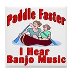 Paddle Faster Tile Coaster