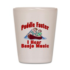 Paddle Faster Shot Glass