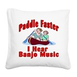 Paddle Faster Square Canvas Pillow