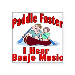 Paddle Faster Square Sticker 3