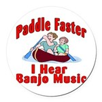Paddle Faster Round Car Magnet