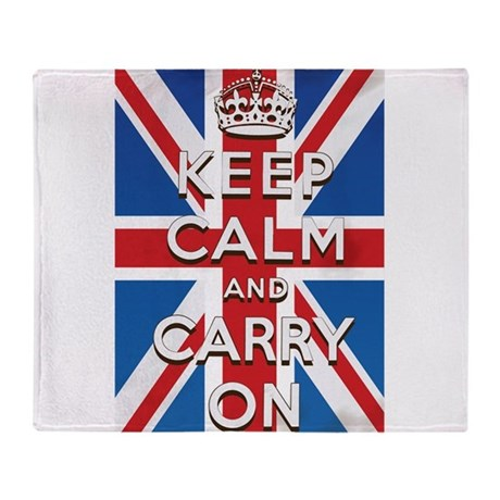 Keep Calm and Carry On British Flag Stadium Blank