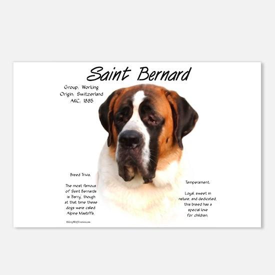Saint Bernard (Smooth) Postcards (Package of 8)