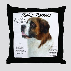 Saint Bernard (Rough) Throw Pillow