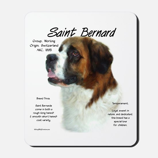 Saint Bernard (Rough) Mousepad