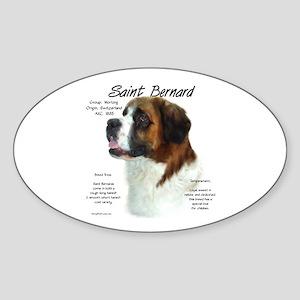 Saint Bernard (Rough) Sticker (Oval)