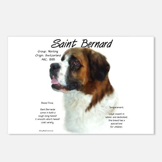 Saint Bernard (Rough) Postcards (Package of 8)