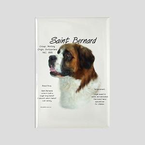 Saint Bernard (Rough) Rectangle Magnet