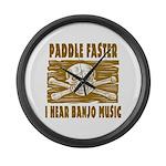 Paddle Faster Hear Banjos Large Wall Clock