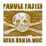 Paddle Faster Hear Banjos Tile Coaster