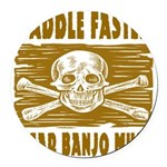 Paddle Faster Hear Banjos Round Car Magnet