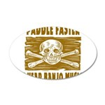 Paddle Faster Hear Banjos 35x21 Oval Wall Decal